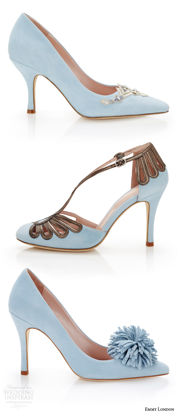 emmy london color wedding shoes duck egg blue bridal shoes delphine pointed toe chloe closed toe suzannah court heels pom