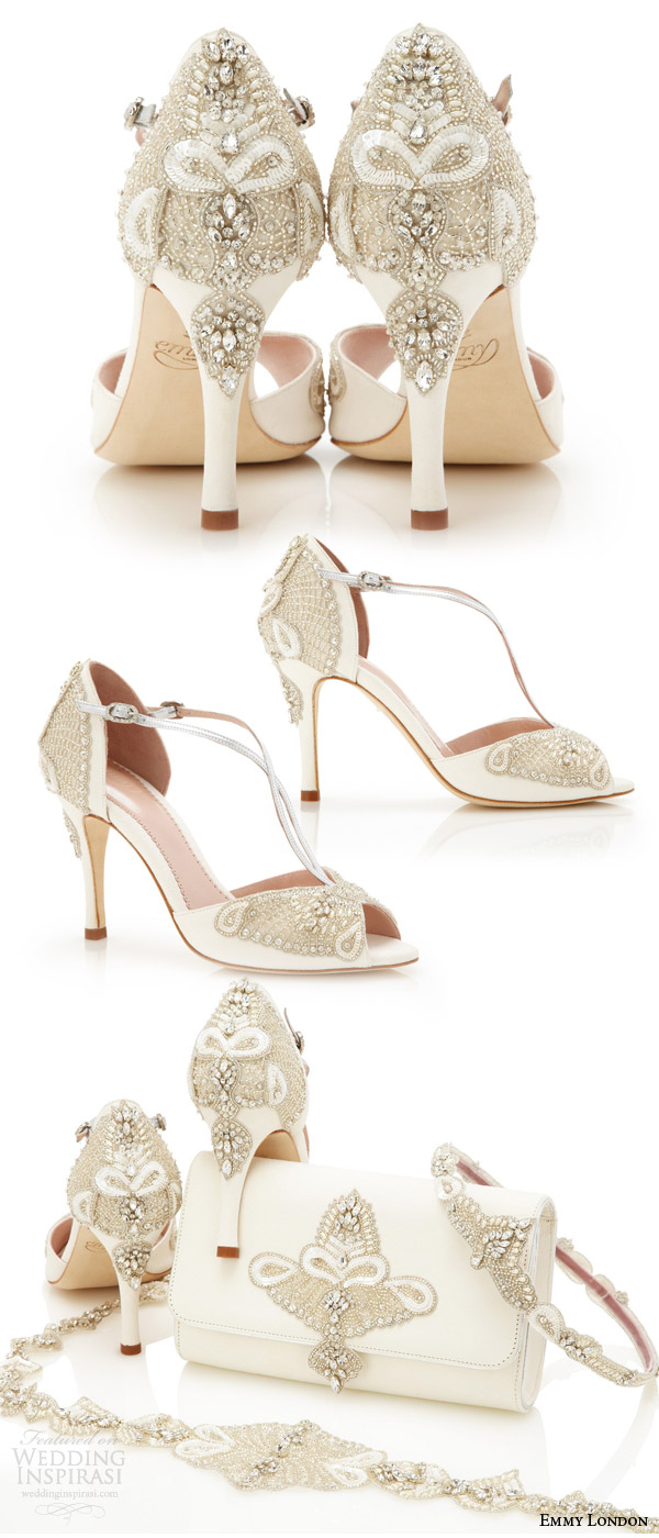emmy london gorgeous wedding shoes embellished open toe high heel sandals ivory kid suede wedding shoe (aurelia)