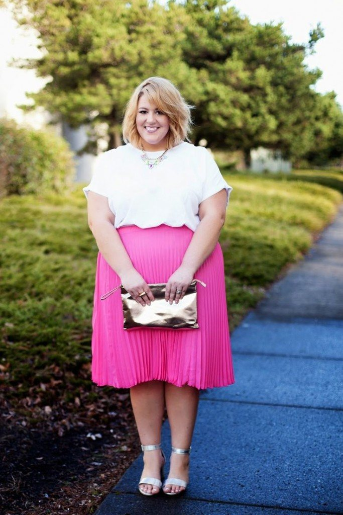 pink outfits for plus size girls (17)