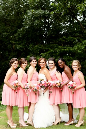 Coral Bridesmaid Dresses - Kate Wenzel Photography