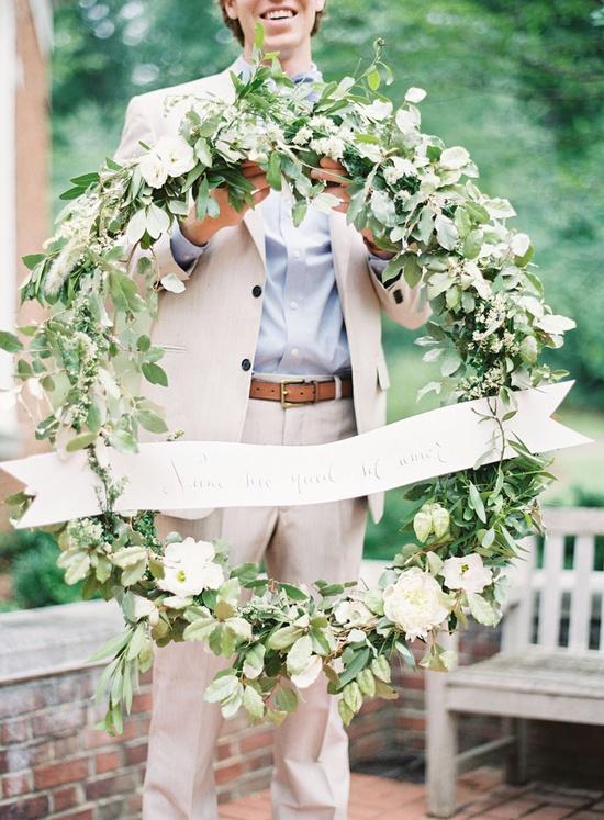 DIY Wedding Ceremony Wreath