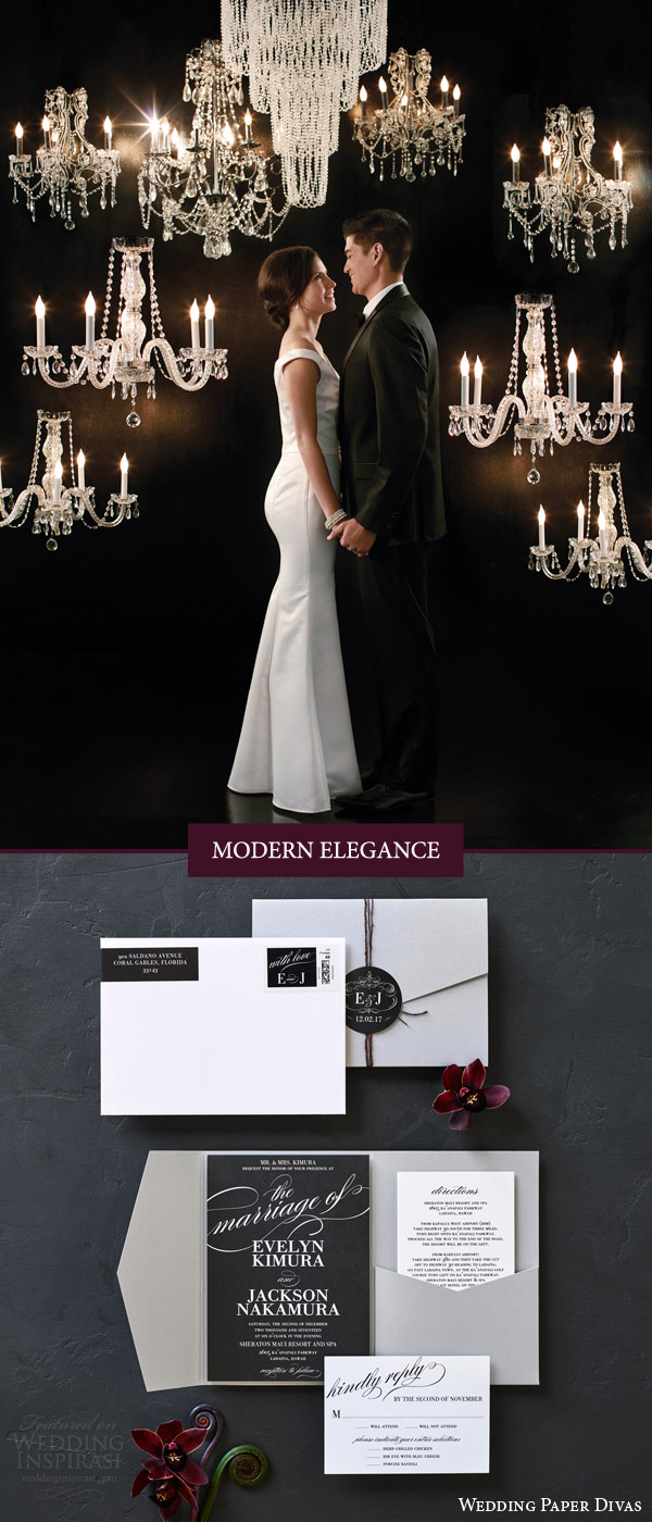 weddingpaperdivas invitation suite wedding style modern elegance chic invites modish marriage