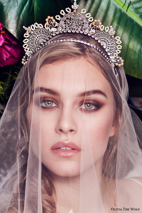 olivia the wolf headpieces 2016 bridal accessories delphine boho tiara gorgeous wedding hair piece veil