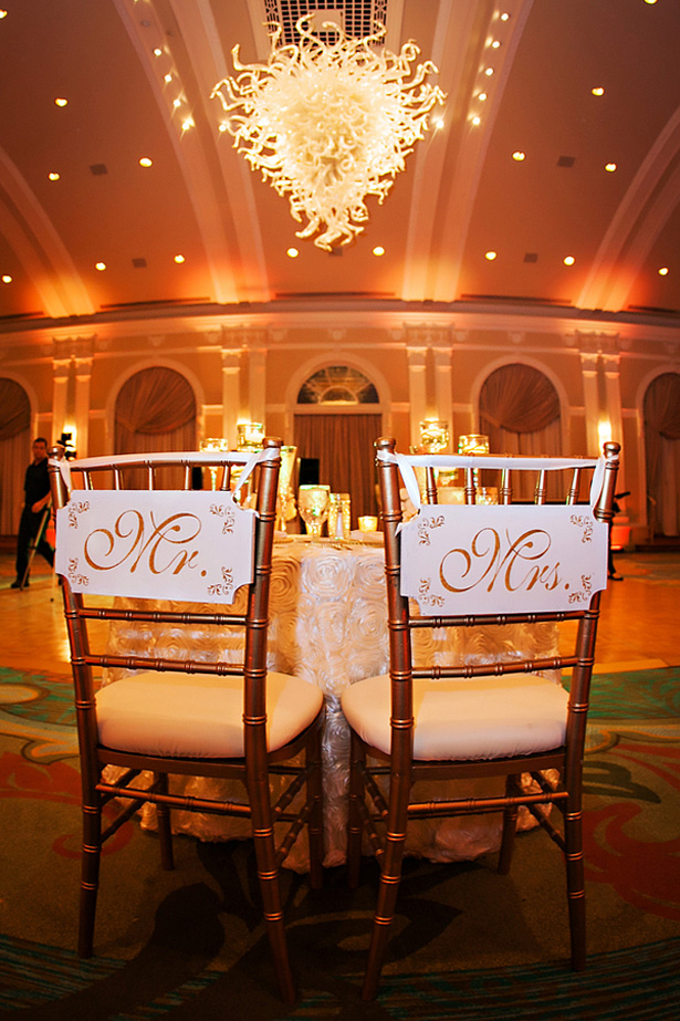 His and Hers Wedding chairs - Limelight Photography