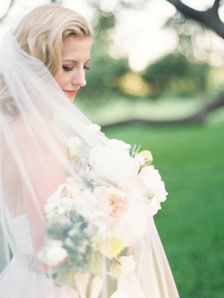 Romantic bridal portrait | Courtney Leigh Photography | see more on: http://burnettsboards.com/2016/02/romantic-outdoor-southern-mansion-wedding/