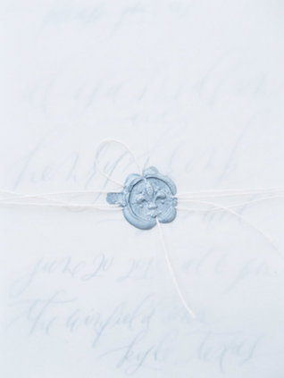 Wax seal | Courtney Leigh Photography | see more on: http://burnettsboards.com/2016/02/romantic-outdoor-southern-mansion-wedding/