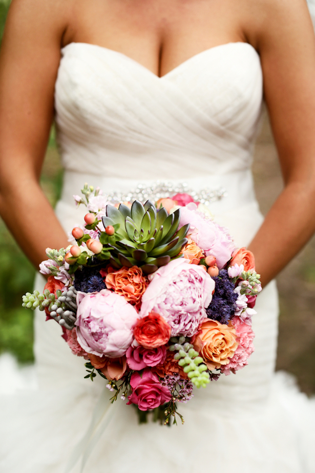 Colorful Wedding Bouquet - Kate Wenzel Photography