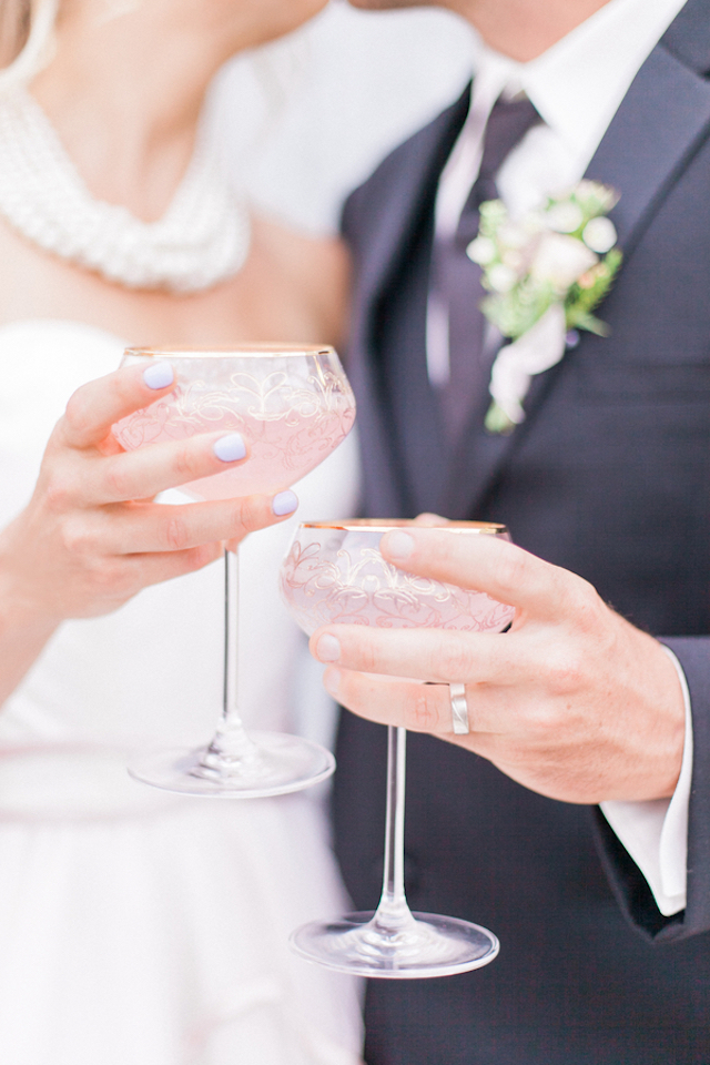 Intricate glassware | Sara Lynn Photographic | see more on: http://burnettsboards.com/2016/02/pink-gold-geometric-wedding/