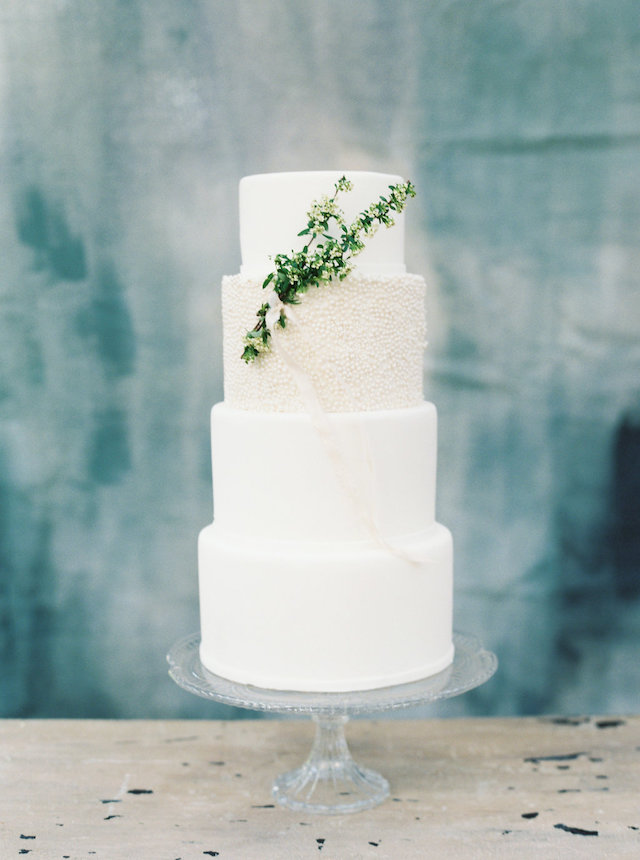 Blue painted wedding cake backdrop | Courtney Leigh Photography | see more on: http://burnettsboards.com/2016/02/romantic-outdoor-southern-mansion-wedding/