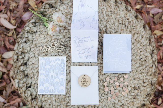 Bohemian forest wedding invitation suite | Carolien & Ben Photography | see more on: http://burnettsboards.com/2016/02/south-african-bohemian-forest-elopement/