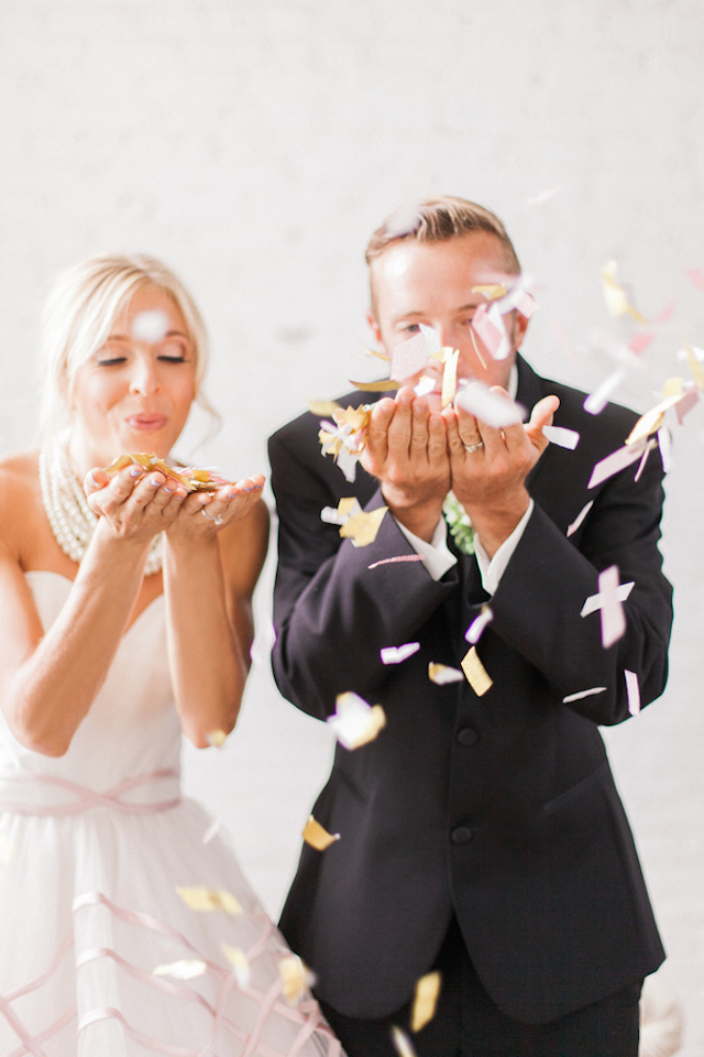 Confetti toss | Sara Lynn Photographic | see more on: http://burnettsboards.com/2016/02/pink-gold-geometric-wedding/