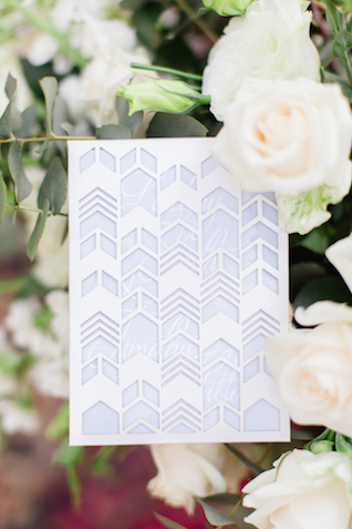 Cutout wedding invitations | Carolien & Ben Photography | see more on: http://burnettsboards.com/2016/02/south-african-bohemian-forest-elopement/