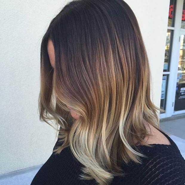 Sun Kissed Long Bob Hairstyle