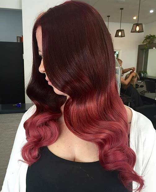 Dark Red to Bright Red Ombre