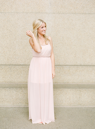 Blush pink maxi dress | Connie Whitlock Photography | see more on: http://burnettsboards.com/2016/02/blush-pink-anniversary-session/
