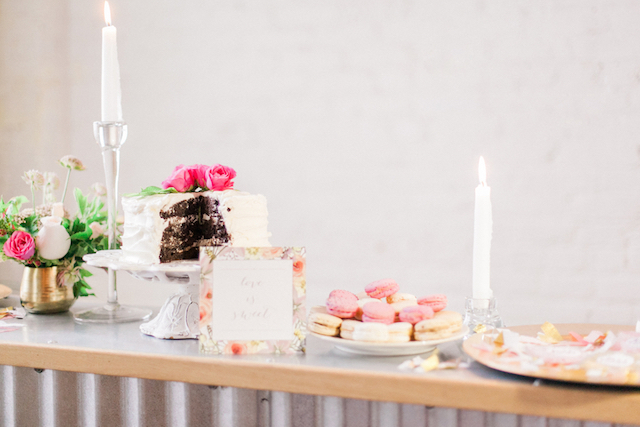 Dessert table | Sara Lynn Photographic | see more on: http://burnettsboards.com/2016/02/pink-gold-geometric-wedding/