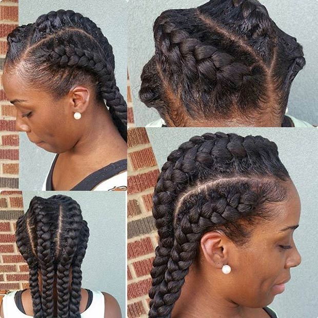 Braided to the Back Goddess Braids