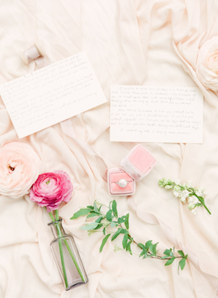 Handwritten vows | Connie Whitlock Photography | see more on: http://burnettsboards.com/2016/02/blush-pink-anniversary-session/