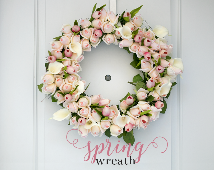DIY Spring Rosebud Wreath