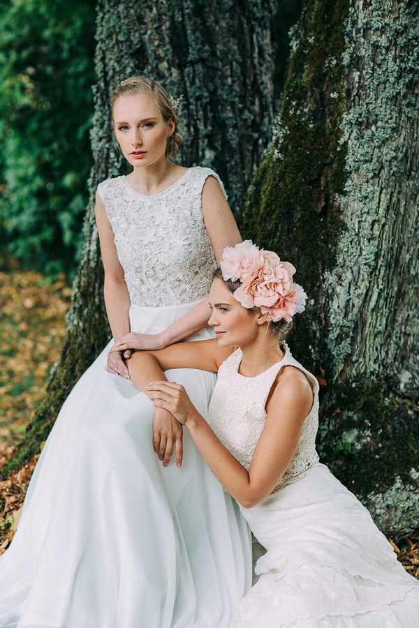 bridal dresses - photo by Petra Veikkola Photography http://ruffledblog.com/finnish-mansion-wedding-inspiration