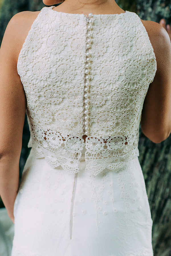 lace wedding dress detail - photo by Petra Veikkola Photography http://ruffledblog.com/finnish-mansion-wedding-inspiration
