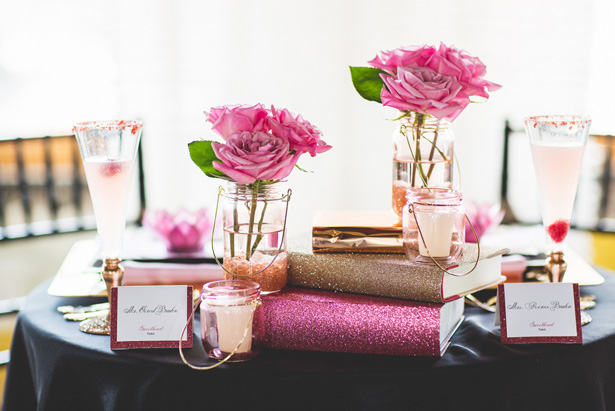 Pink wedding decorations - Emily Joanne Wedding Films & Photography