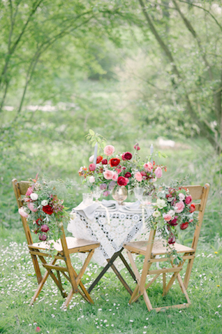 Romantic red and pink sweetheart table | Plenty To Declare Photography | see more on: http://burnettsboards.com/2016/02/whimsical-marsala-celebration/