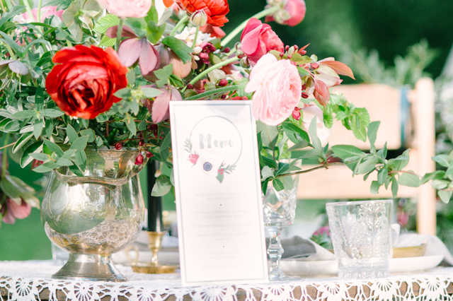 Wedding menu card | Plenty To Declare Photography | see more on: http://burnettsboards.com/2016/02/whimsical-marsala-celebration/