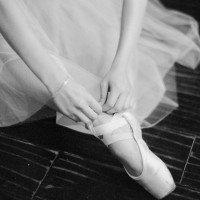Ballet wedding shoes - Melanie Gabrielle Photography