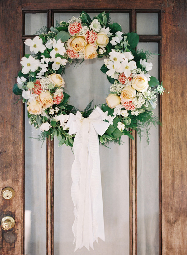 DIY Wedding Door Wreath