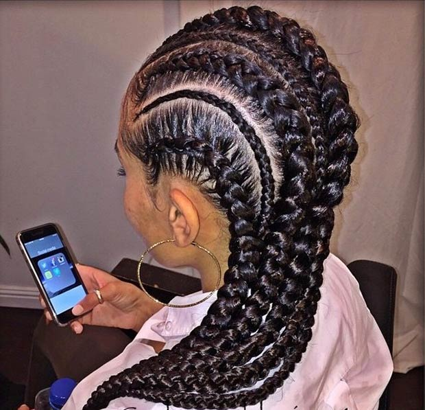 Cornrows Hairstyle for Black Women