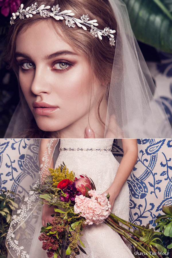 olivia the wolf headpieces 2016 bridal accessories tiera vine headband teodora belt octavia veil
