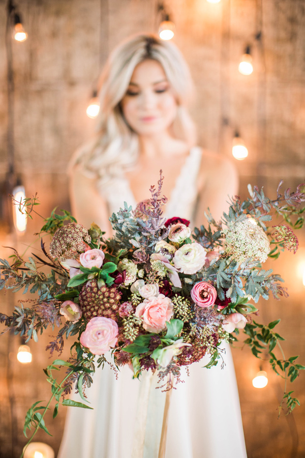 blush bouquet - photo by A.Fogarty Photography http://ruffledblog.com/romantic-bridal-boudoir-inspiration