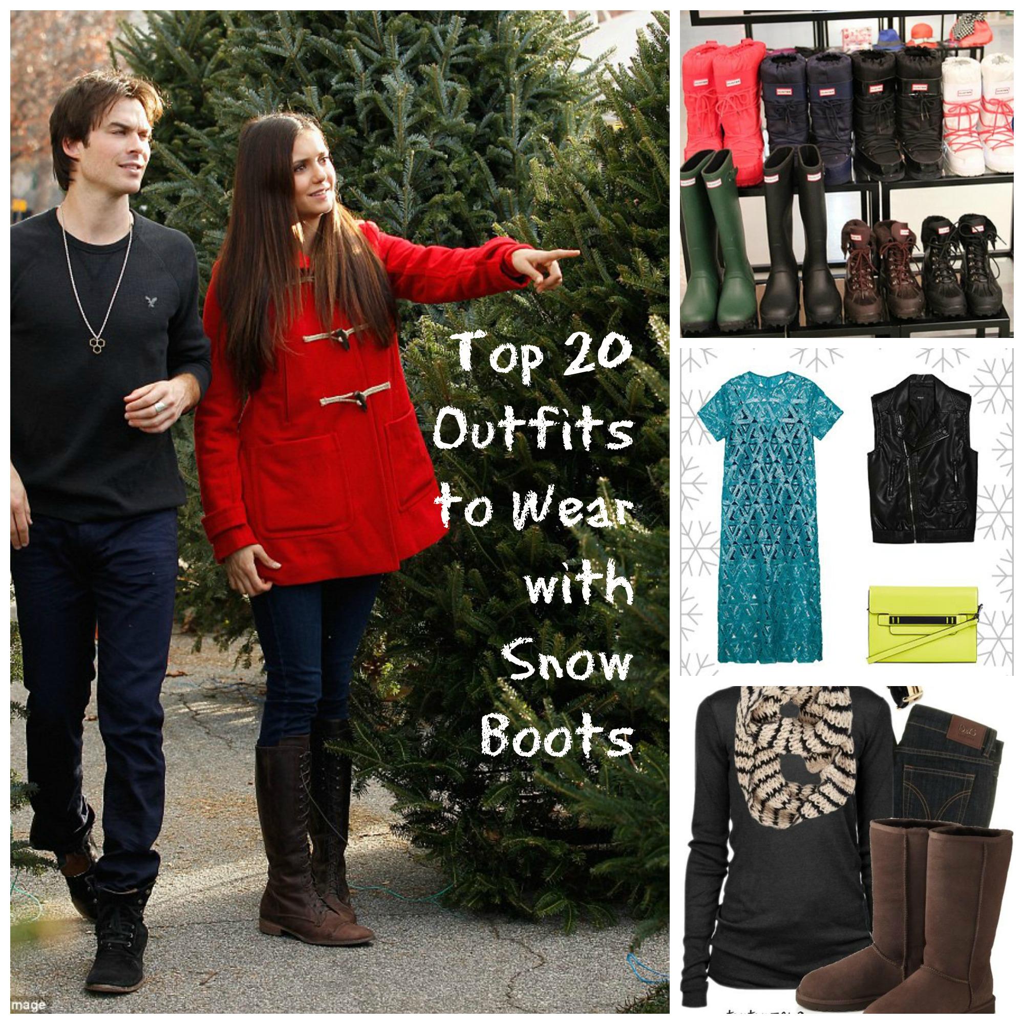 snow boots outfits