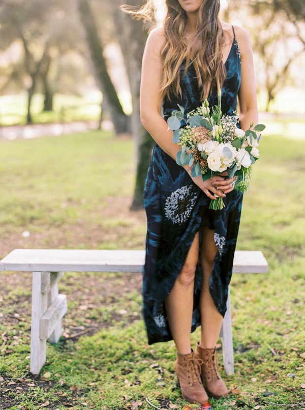 boho bridesmaid - photo by Danielle Poff http://ruffledblog.com/arroyo-grande-barn-wedding
