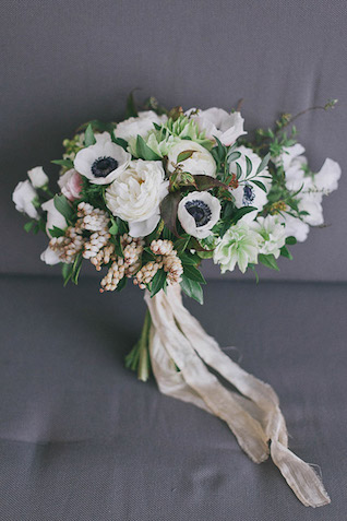 bridal bouquet ranunculus silk ribbon Photographer Elina Sazonova