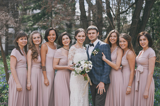 blush bridesmaids dresses | Photographer Elina Sazonova