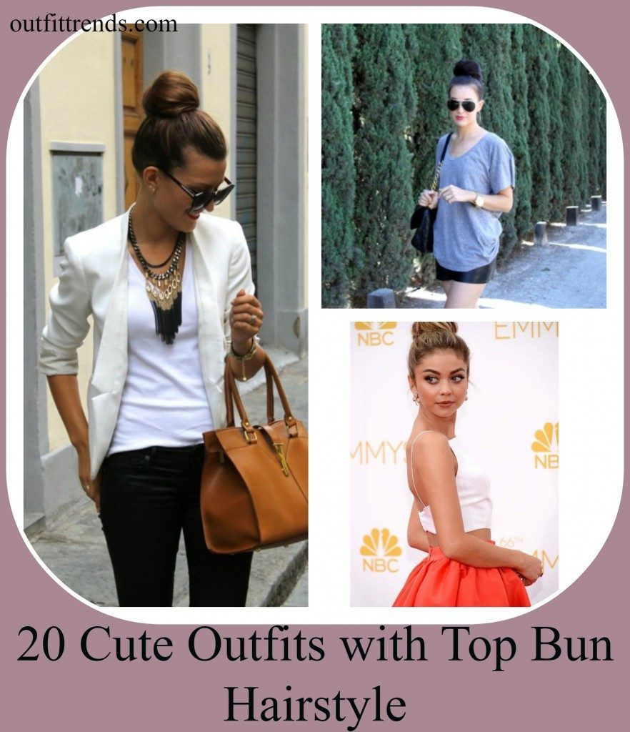 Cute and stylish outfit combos with Top Bun (1)