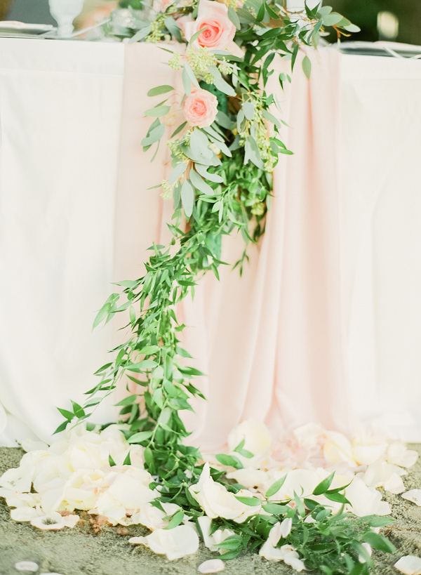 greenery table runner - photo by Simply Sweet Photography by Nomo Akisawa http://ruffledblog.com/nordic-beach-wedding-inspiration