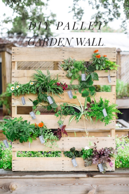 This Pallet Garden Wall Will Be Good Looking As A Wedding Backdrop For Photo Shoots Or Just Simply Decor Addition To Your Outdoor Ceremony
