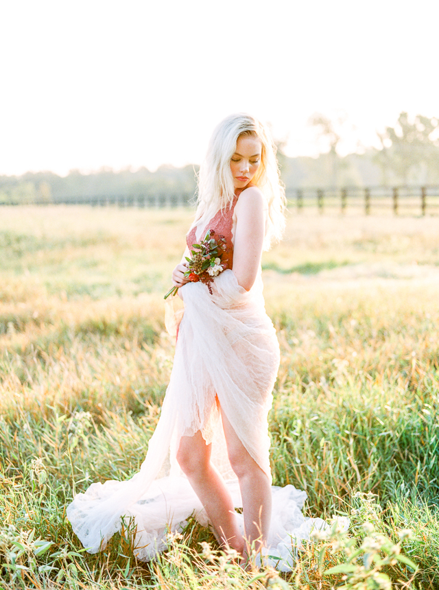 Feminine rustic bridal boudoir session | Callie Manion Photography