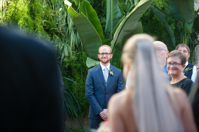 Groom's reaction to bride walking down the aisle | Kaysha Weiner Photographer