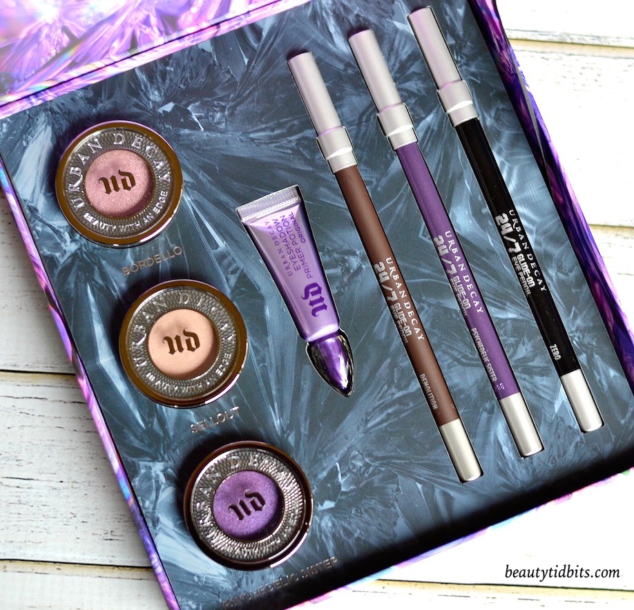 With 3 full-sized eyeshadows and 3 full-sized 24/7 eyeliner pencils plus a deluxe sized primer, Urban Decay Urban Essentials Eye Kit is an amazing value set for only $  48! Click through for more details and swatches!