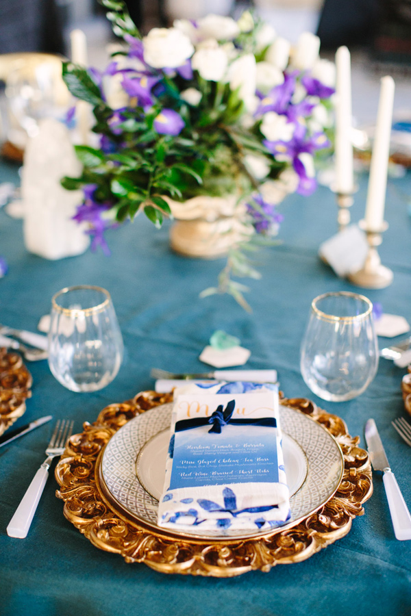 blue and gold wedding ideas - photo by Mary Costa Photography http://ruffledblog.com/schoolhouse-charm-wedding-inspiration