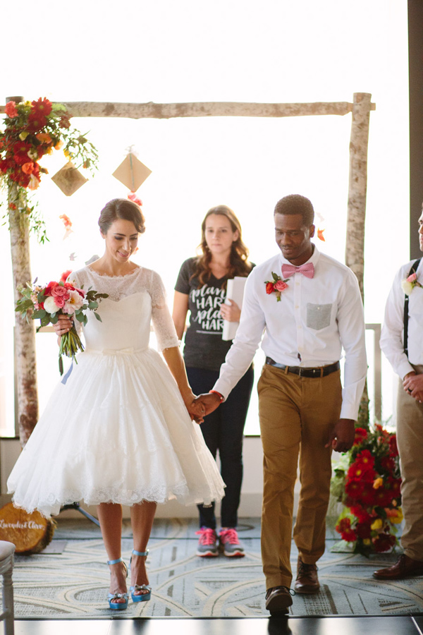ceremony recessional - photo by Mary Costa Photography http://ruffledblog.com/schoolhouse-charm-wedding-inspiration