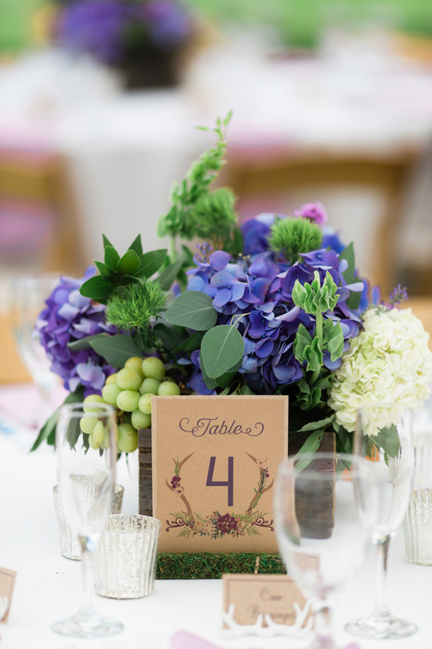 wedding table number - Dan and Melissa