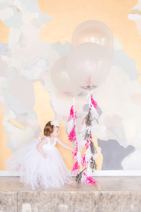 wedding balloons - photo by Tina Jay Photography http://ruffledblog.com/bright-and-modern-vow-renewal