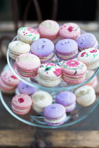 painted macarons | Stephanie Ponce Photography