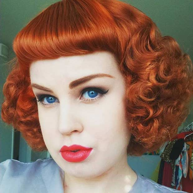 Pin Up Tight Curls Hairstyle