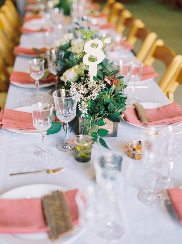 petite centerpieces - photo by Danielle Poff http://ruffledblog.com/arroyo-grande-barn-wedding